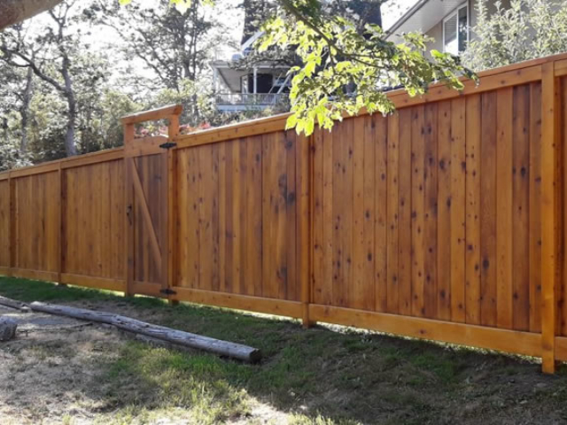 Custom Cedar Fence Construction Greater Victoria BC.