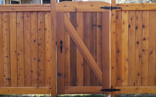Custom Wood Fence Construction