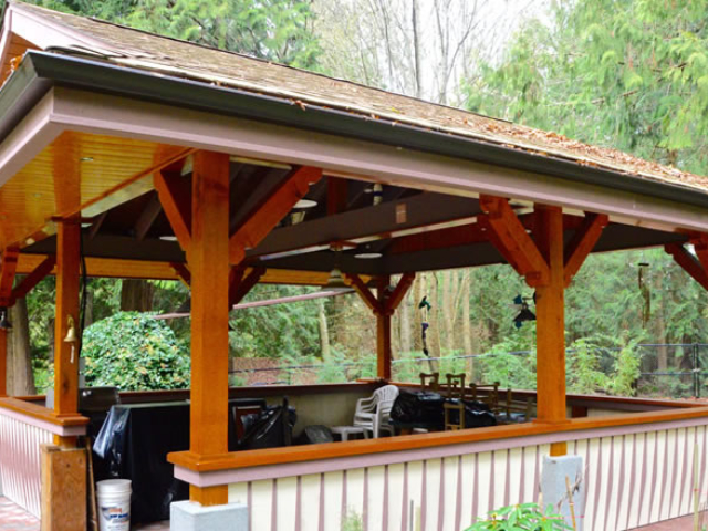Outdoor Cooking Area And Outdoor Kitchen Builder Victoria BC